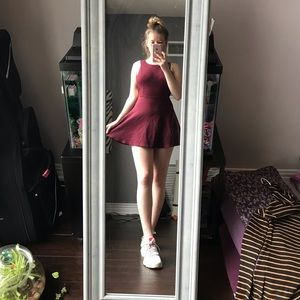 ⭐️ 3/50$ American Apperal low back wine dress